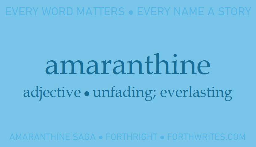 001 amaranthine