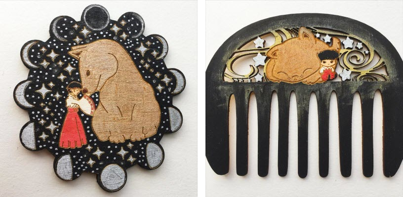 pendant and comb, theif.of.time.uk